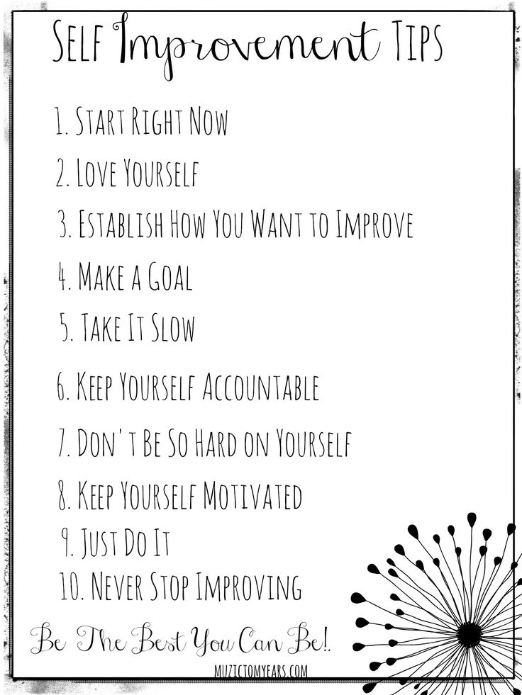 10 Of The Best Self Improvement Tips Muzic To My Ears