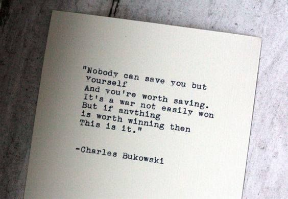 Inspirational Positive Quotes :Nobody can save you but ...