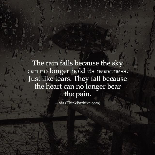 Positive Quotes Rain: Inspirational Positive Quotes :The Rain Falls Because The