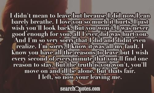 Breaking Up And Moving On Quotes Im Sorry I Still Love You But You