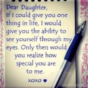 Dear Daughter Love Quotes Family Cute Quote Heart Family Quote Family Quotes  Let...   QuotesViral.net | Your Number One Source For Daily Quotes