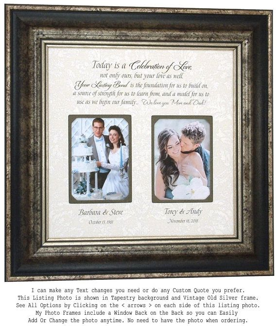 Wedding Quotes :Check out Personalized Picture Frame, Parents ...