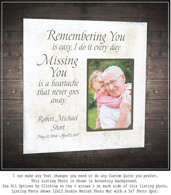 Wedding Quotes In Memory Of Photo Frame Memorial Gift Dad In